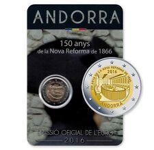 """** Andorra 2 Euro 2016 """"Nova Reforma""""- In Stock!. Schaars!**"""