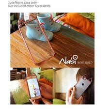 NABI 3D Cute Metallic Clear Back silicone Bumper Case Cover for iPhone Galaxy LG