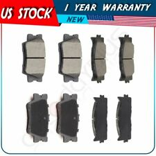 8X Brake Ceramic Pads For 2008 2009 -2017 Toyota Camry Front and Rear Low Dust