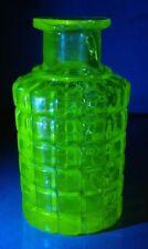 Ancien flacon bouteille OURALINE sans bouchon salle de bain URANIUM GLASS bottle