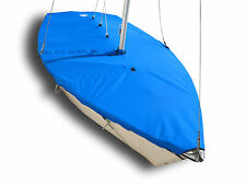 Laser II Sailboat - Boat Mast Up Flat Cover - Blue Polyester SLO Sail and Canvas
