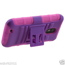 Sprint Samsung Galaxy S II 2 D710 AA Hybrid Case Skin Cover w/Stand Purple Pink