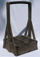 An interesting old wood tote. Primitve, well made, good old paint.