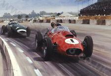 Litho 1958 British Grand Prix (Ferrari D246 Peter Collins) door Graham Turner