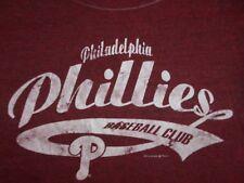 MLB Philadelphia Phillies Baseball Womens Fitted T Shirt Size Large