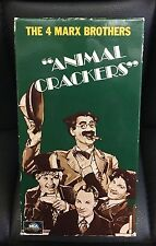 Animal Crackers 1930 VHS Marx Brothers Comedy B&W Groucho Chico Harpo Musical