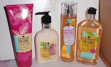 BATH AND BODY WORKS LEMON POMEGRANATE 4 PC COLLECTION MIST, BODY CREAM, LOTION,