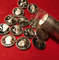 Mix Lot Of Ten Gem Proof Cameo Silver Quarters 90% Silver-State, ATB, Nat. Parks
