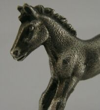More details for good sized 2inch english solid sterling silver foal horse animal figure 2001 40g