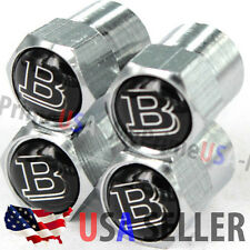 Brabus B Mercedes Benz MB Logo Valve Stems Caps Covers Wheel Chromed Emblem Tire