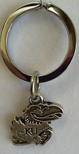 Kansas Jayhawks NCAA Football / Basketball Silver Charm Key Chain Free Ship