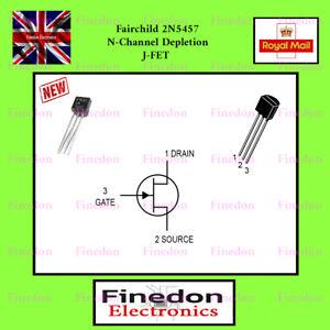 FAIRCHILD 2N5457 N-Channel Depletion JFET TO92 UK Seller.