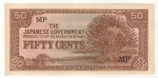 50 Cents Malaya Japanese Invasion Money (JIM) , MP (UNC)