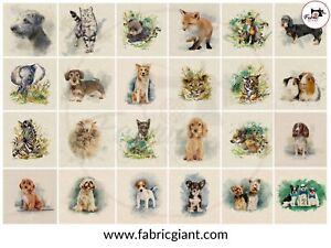 ANIMAL CUSHION & BAG PANELS by Chatham Glyn - Cotton Fabric ** 27 NEW DESIGN **