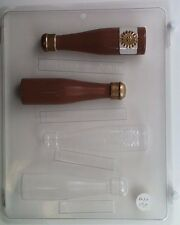 CHAMPAGNE BOTTLE 3D CLEAR PLASTIC CHOCOLATE CANDY MOLD W008
