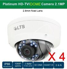 4 PCS HD-TVI DOME CAMERA 2.1MP, 2.8MM FIXED LENS, SMART-IR,  CCTV SECURITY #004