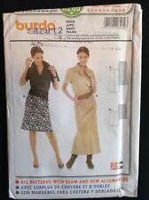 Pattern Burda 8280, misses' skirt, 2 lengths, slim fit, Sz 10-28