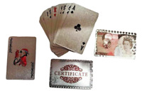 Waterproof Plastic Playing Cards Deck of PVC Poker Card Creative Party Game Gift