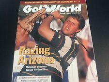 Phil Mickelson Golf Autograph Magazine Cover Ryder Cup Masters PGA JSA Guarantee