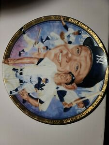 MICKEY MANTLE NEW YORK YANKEES SPORTS IMPRESSIONS 1992 PLATE LIMITED EDITION