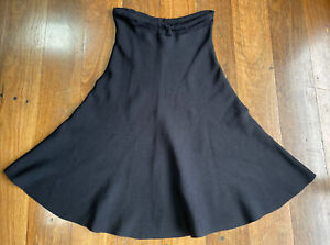 Country Road black A-line classy midi skirt - size L