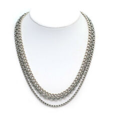 "New DAVID YURMAN Long 3 Row Multi Chain Necklace Sterling Silver 18""  NWT"