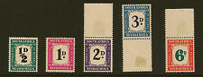 SOUTH AFRICA : 1948-9 Postage Due set SG D34/38 mint/unmounted mint