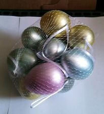 Eggs 2.25 inch Assorted 12 pieces Ornaments Home Decor E2