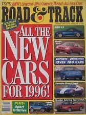 Road & Track magazine 10/1995 featuring Juan Manuel Fangio, Honda, BMW, Corvette