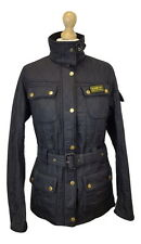 Q102 Barbour International Ladies Black Polarquilt Utility Jacket, UK 10