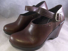 NEW DANSKO WOMEN'S FIFI BUCKLE STRAP ANKLE BOOTS BROWN LEATHER 38 8 MEDIUM $180