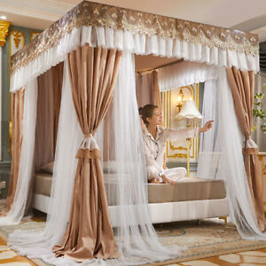 newly listed light shading netting canopy double layers lace tubes mosquito net