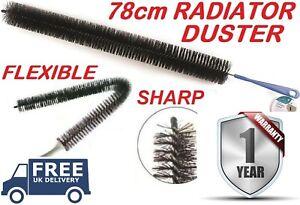 LONG REACH FLEXIBLE RADIATOR HEATING HEATER BRISTLE BRUSH DUST CLEANING CLEANER