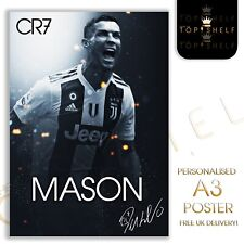 Personalised A3 Cristiano Ronaldo CR7 Juventus poster any name