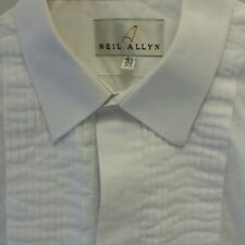 Neil Allyn Tuxedo Shirt French Cuff Pleated front Size 16.5 34/35