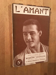 Rudolph Valentino - l'Amant - Roman illustré de 17 photos inédites (1928) - BE