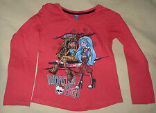 T-shirt rouge Monster High Ghoulia Cléo 14 ans manches longues Lamaloli TBE