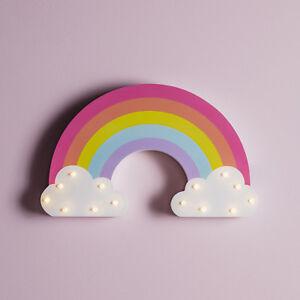 LED Regenbogen Wandlicht 29cm breit Kinder Deko Licht Timer Batterie Lights4fun