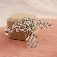 CATHERINE BRIDAL HAIR COMB, CLEAR RHINESTONE, HAIR COMB, VINTAGE, ART DECO, CLIP