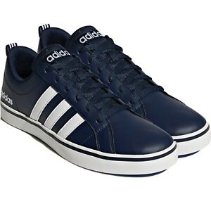Adidas Mens Pace Trainers Skateboarding Triple Leather Casual Shoes Low Top Navy