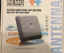 NIB REMO OUTDOOR BAS-2307 WiFi DUAL BAND ANTENNA EXTENDER FOR ROUTERS 2.4/5 Ghz