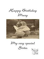 Sisters Twin Friends Birthday A5 Card Personalised Traditional Daughter Niece 50