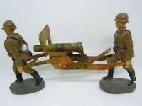 Lineol Elastolin englische Infanteriesoldaten mit SMG von Elastolin