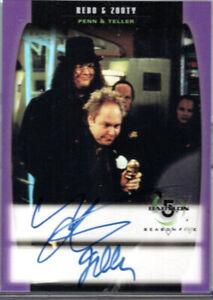 Skybox Babylon 5 Season 5 autograph card - A16 - Penn & Teller