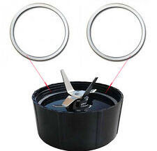 2 Pcs Replacement Gaskets Rubber Seal Ring For Magic Bullet Flat/Cross Blade