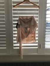 vanessa bruno Silk Cami Top Nude Lace 38