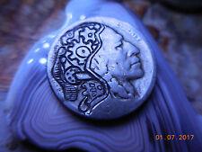 19xx Hobo Nickel Buffalo Psychedelic Indian Steampunk Gears