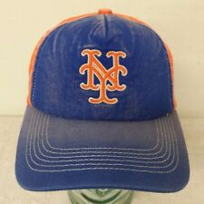 New York Mets Orange & Blue Color Men's One Size Snap Back Flat Hat