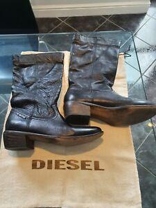 Diesel Black cowboy boots Size 7
