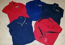 Lot of 5 (5) Ralph Lauren, Polo Sport Cotton + Fleece Pullovers Size M